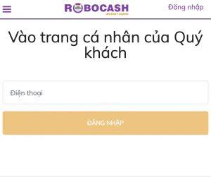 Đăng nhập Robocash