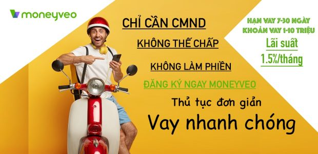 Hướng dẫn vay online MoneyVeo.vn, không thế chấp, vay đến 10 triệu