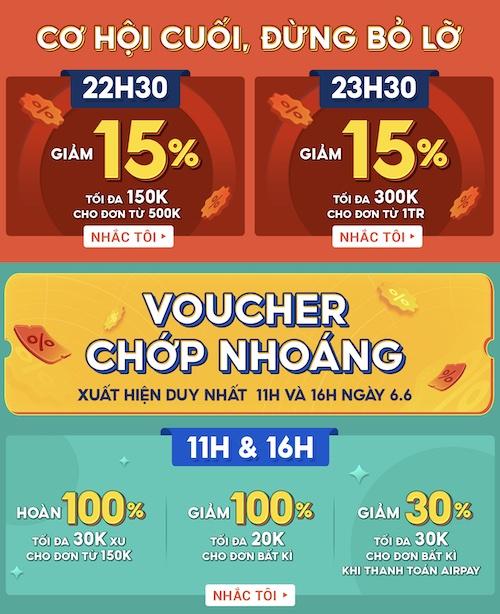 Mã giảm giá 150K siêu sale giữa năm Shopee
