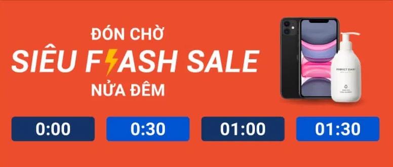 Đón chờ siêu flash sale Shopee