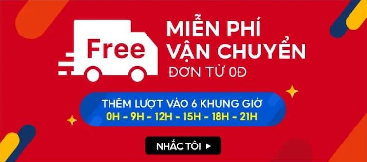 Shopee miễn phí vận chuyển 0đ